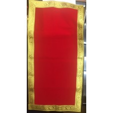Long Red Cloth with Golden Border
